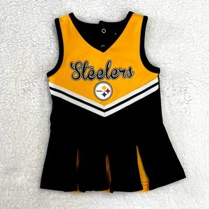 Adorable Steelers cheerleader outfit for baby girl